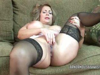 masturbating, cougar, old