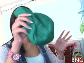 Slim Asian Legal Age Teenager Alina Li Trains Her Snatch