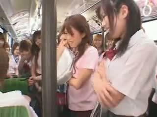 Koulutyttö bussi fuckfest sensuroitu