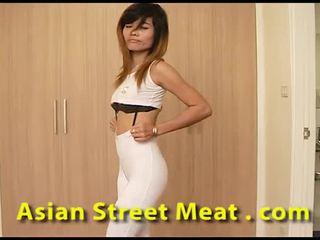 Clean thai slapper sweats til sperm