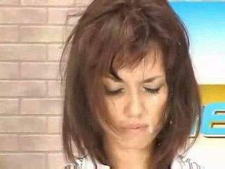 أخبار الآسيوية فتاة getting تجميل الوجه حي