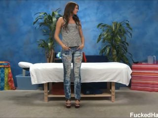 Hot 18 Year Aged Cassandra Gives MORE Than Just The Massage.