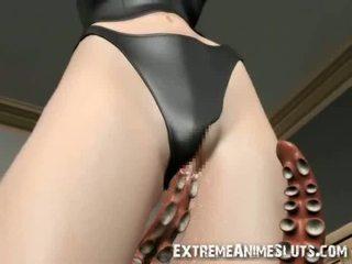 Tentacles Bang a 3D Girl!