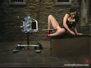 Ariel X Moans Round Delight While Being Shaged By A Screwing Device