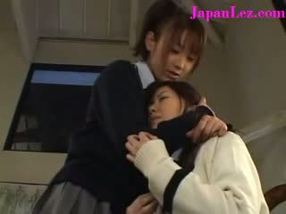 Japanese Lesbian Religious School Girl Sins with Friend