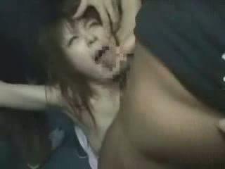 japonês, menina, groped, brutally