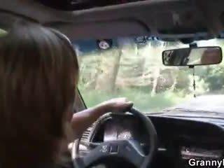 Coche driver bangs abuelita puta