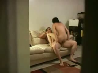 Skinny brunette gets fucked, blows in a 69 and gags on hidden