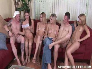tiener sex gepost, groepsseks scène, tieners vid