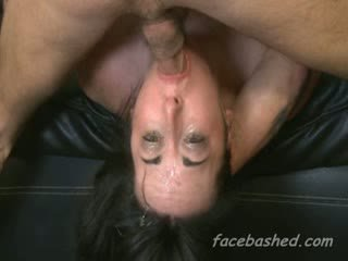 Throated brunette gets stuffed til puking cum