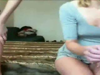 Two Horny Sluts dildo Fuck on Webcam