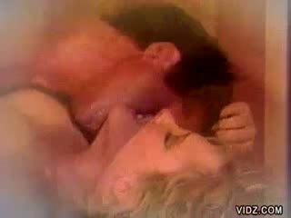 Stunning Blond hussy Blow Jobs stud in sauna