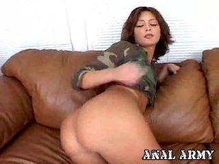 brünette, harten fick, anal sex
