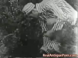 1915 瘋狂的 古董 戶外 色情!
