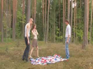 Amatorskie czechian 3kąt w the las