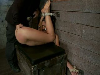 Long Legs And Huge Nipples Suffers Foot Caning Finger Fucking Til Squirting Agony Ecstasy