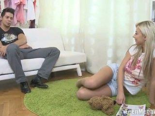 een tiener sex actie, meer hardcore sex, pijpbeurt kanaal