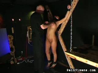 marteling, alle pijnlijk scène, echt vernedering klem