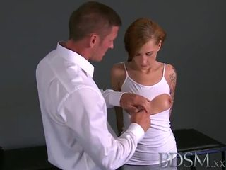 BDSM: Sadistic master scares his slave and bangs her
