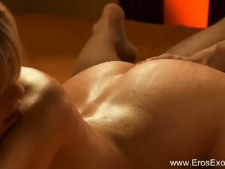 Eros Exotica: Sensual blonde gets massaged and assfucked hard