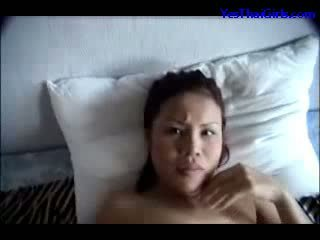 Thai Girl Sucking Cock Mouth Fucked Facial On The Bed