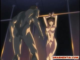 Bondage hentai gets fingering wetpussy and squeezed bigtits