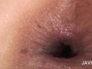 Ázsiai anális beleélvezés -ban close-up -val meztelen kívánós picsa