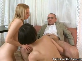 Crafty, Tricky Mature Master Manages To Talk Martina In Having Funtime Around Her Buddy Whilst He Joins In!