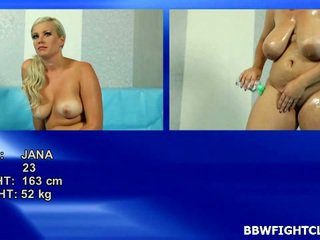 Best Naked Plump Wrestling Onto A Net