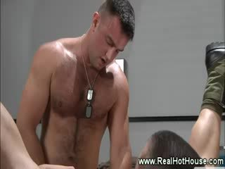 Army hunks are fucking each other
