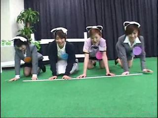 Japanese contestants participate in a crazy gameshow Video