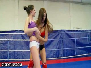 NudeFightClub Presents Angelica Heart Vs Denisa Doll