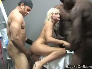 Kelly Surfer Golden Haired Babe Sex Party With Dark Dudes