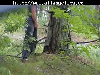 Jerk By Busy Roadside And Shoot Up Treegay porn gays gay cumshots swallow stud hunk