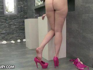 eet haar voeten scène, nieuw voet fetish vid, sexy benen