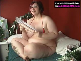 CHUBBY Girl Does It Xmass Way BBW 1