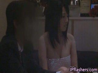 Japan Babe Flashing Tits