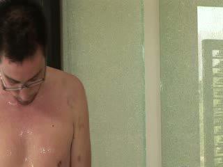 Oriental model gives Blowjob and nuru massage