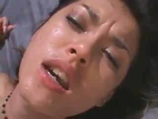 deepthroat neuken, heet japanse, controleren kut likken scène