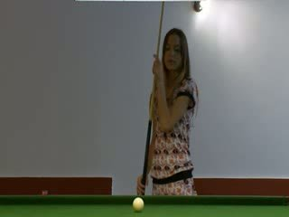 two lezzies masturbation on billiard