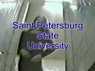 P0 Voyeur Hidden cam Watching girls pee in russian university toilet