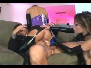 anaal, latex, mooi kousen porno