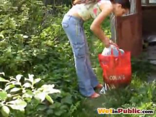Road Busty Babe Urinated Herself