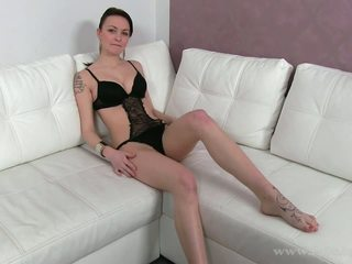 Creamy skinned babe fucked at her first casting.