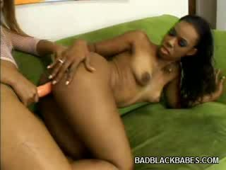 Ebony Booty fucking Riding a vibrator