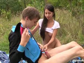 Skinny Teen Paula Gets Fucked Outdoors