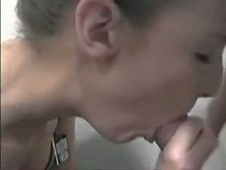 Changing room blowjob