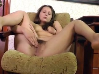 Hairy Curvy Vera be naked and masturbate after makeup