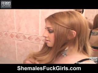 Hot Shemales Invade Girls Movie Starring Juliana, , Sara