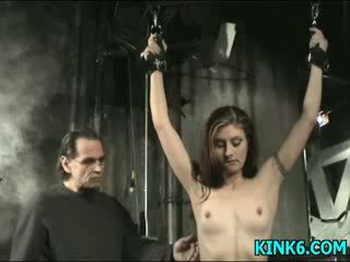 Helpless girl gets abused